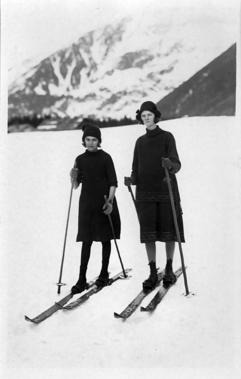 Betty and Vada at Chamonix 1926